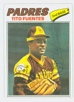 Tito Fuentes AUTOGRAPH 1977 Topps #63 Padres   [SKU:FuenT1238_T77BB]