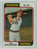 Bob Gallagher AUTOGRAPH 1974 Topps #21 Astros 