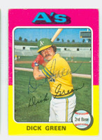 Dick Green AUTOGRAPH 1975 Topps #91 Athletics 