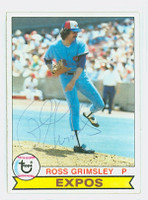 Ross Grimsley AUTOGRAPH 1979 Topps #15 Expos 