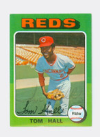 Tom Hall AUTOGRAPH 1975 Topps Mini #108 Reds 