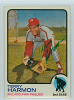 Terry Harmon AUTOGRAPH 1973 Topps #166 Phillies 