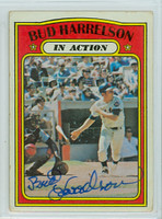 Bud Harrelson AUTOGRAPH 1972 Topps #54 Mets In Action 
