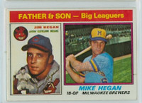 Mike Hegan AUTOGRAPH d.13 1976 Topps #69 Father Son Brewers   [SKU:HegaM1563_T76BBC1sbjl]