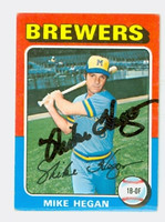 Mike Hegan AUTOGRAPH d.13 1975 Topps Mini #99 Brewers 