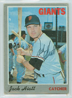 Jack Hiatt AUTOGRAPH 1970 Topps #13 Giants CARD IS FAIR