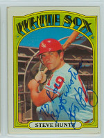 Steve Huntz AUTOGRAPH 1972 Topps #73 White Sox 
