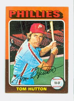 Tom Hutton AUTOGRAPH 1975 Topps Mini #477 Phillies 