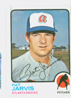 Pat Jarvis AUTOGRAPH 1973 Topps #192 Braves 
