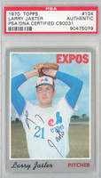 Larry Jaster AUTOGRAPH 1970 Topps #124 Expos PSA/DNA 