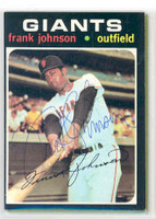 Frank Johnson AUTOGRAPH 1971 Topps #128 Giants 