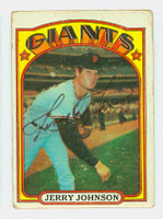 Jerry Johnson AUTOGRAPH 1972 Topps #35 Giants 