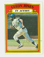 Cleon Jones AUTOGRAPH 1972 Topps #32 Mets In Action 