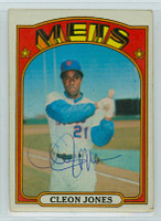 Cleon Jones AUTOGRAPH 1972 Topps #31 Mets 