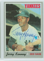 Jerry Kenney AUTOGRAPH 1970 Topps #219 Yankees 