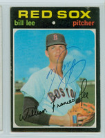 Bill Lee AUTOGRAPH 1971 Topps #58 Red Sox 