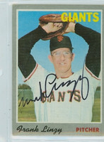 Frank Linzy AUTOGRAPH 1970 Topps #77 Giants 