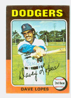 Dave Lopes AUTOGRAPH 1975 Topps #93 Dodgers 