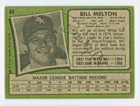 Bill Melton AUTOGRAPH 1971 Topps #80 White Sox BACK SIGNED