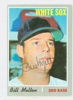 Bill Melton AUTOGRAPH 1970 Topps #518 White Sox 