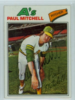 Paul Mitchell AUTOGRAPH 1977 Topps #53 Athletics 