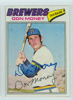 Don Money AUTOGRAPH 1977 Topps #79 Brewers 