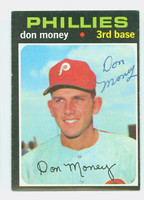 Don Money AUTOGRAPH 1971 Topps #49 Phillies 