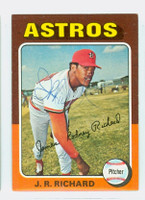 JR Richard AUTOGRAPH 1975 Topps #73 Astros 