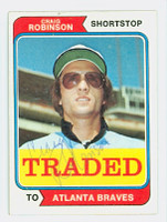 Craig Robinson AUTOGRAPH 1974 Topps #23 Braves TRADED 