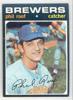 Phil Roof AUTOGRAPH 1971 Topps #22 Brewers 
