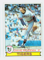 Dave Rozema AUTOGRAPH 1979 Topps #33 Tigers 