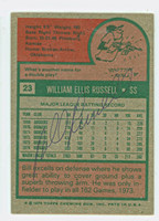Bill Russell 1975 Topps #23 Dodgers Back Signed   [SKU:RussB1066_T75BBBS]