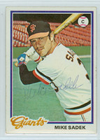 Mike Sadek AUTOGRAPH 1978 Topps #8 Giants 