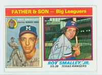 Roy Smalley JR AUTOGRAPH 1976 Topps #70 Rangers Father Son   [SKU:SmalR7081_T76BBC1]