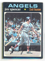 Jim Spencer AUTOGRAPH d.02 1971 Topps #78 Angels 