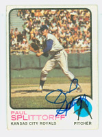 Paul Splittorff AUTOGRAPH d.11 1973 Topps #48 Royals 
