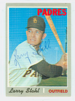 Larry Stahl AUTOGRAPH 1970 Topps #494 Padres 