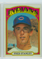 Fred Stanley AUTOGRAPH 1972 Topps #59 Indians 