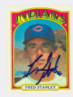 Fred Stanley AUTOGRAPH 1972 O-PEE-CHEE Indians 