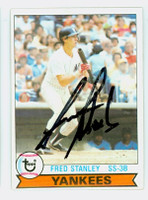 Fred Stanley AUTOGRAPH 1979 Topps #16 Yankees 