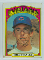 Fred Stanley AUTOGRAPH 1972 Topps #59 Indians   [SKU:StanF1002_T72BB]