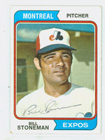 Bill Stoneman AUTOGRAPH 1974 Topps #352 Expos 