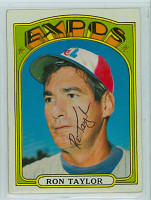 Ron Taylor AUTOGRAPH 1972 Topps #234 Expos   [SKU:TaylR1499_T72BBCpl]