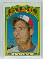 Ron Taylor AUTOGRAPH 1972 Topps #234 Expos   [SKU:TaylR1499_T72BBP]