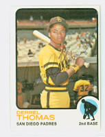Derrel Thomas AUTOGRAPH 1973 Topps #57 Padres 