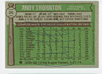Andre Thornton AUTOGRAPH 1976 Topps #26 Cubs BACK SIGNED