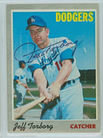 Jeff Torborg AUTOGRAPH 1970 Topps #54 Dodgers 