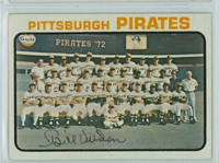Bill Virdon AUTOGRAPH 1973 Topps #26 Pirates Team Card 