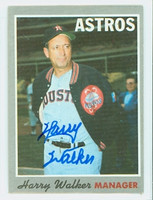 Harry Walker AUTOGRAPH d.99 1970 Topps #32 Astros 