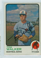 Tom Walker AUTOGRAPH 1973 Topps #41 Expos 